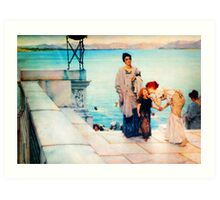 A Kiss by Sir Lawrence AlmaTadema Art Print