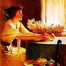 A Meadow Flower by John White Alexander by Adam Asar