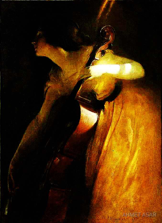 A Ray of Sunlight 2F The Cellist by John White Alexander by Adam Asar