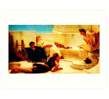 A Reading from Homer  by Sir Lawrence AlmaTadema Art Print