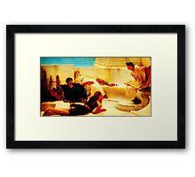 A Reading from Homer  by Sir Lawrence AlmaTadema Framed Print