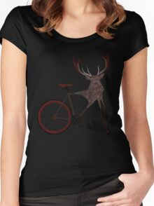Stag Bike Women's Fitted Scoop T-Shirt