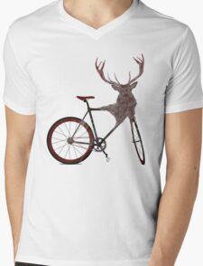 Stag Bike Mens V-Neck T-Shirt