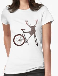 Stag Bike Womens Fitted T-Shirt