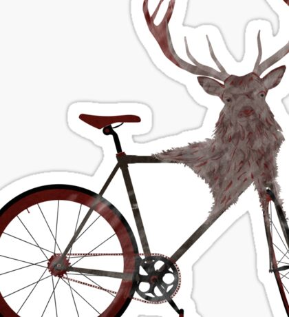 Stag Bike Sticker
