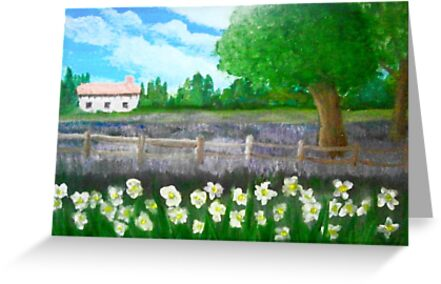 Lavender and Daffs by Holly Martinson