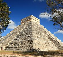 Kukulkan Pyramid in Chichen Itza Mexico by Roupen  Baker