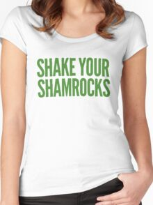 Shake Your Shamrocks [GREEN] Women's Fitted Scoop T-Shirt