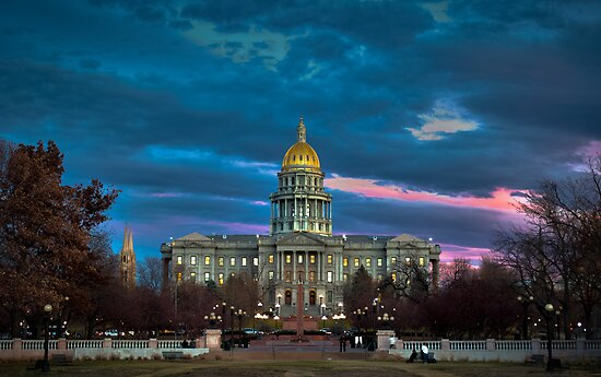 Colorado State Capitol Building at Sunset by Reese Ferrier