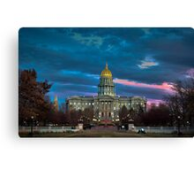 Colorado State Capitol Building at Sunset Canvas Print