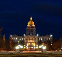 Colorado State Capitol Building at Night by Reese Ferrier
