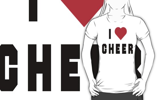 I Love Cheer by SportsT-Shirts