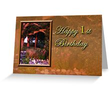 1st Birthday Woods Greeting Card