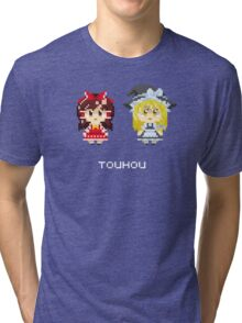 Reimu Hakurei and Marisa Kirisame Pixels Tee Tri-blend T-Shirt