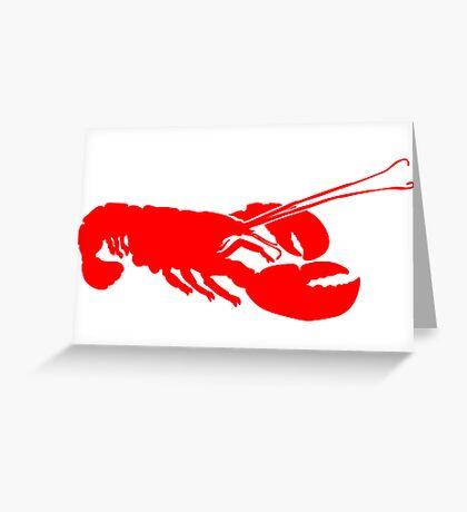 Lobster Outline Greeting Card