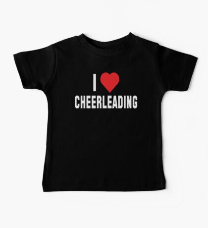 I Love Cheerleading Dark Baby Tee
