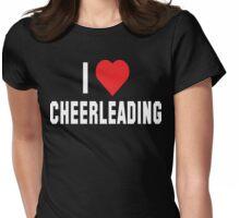 I Love Cheerleading Dark Womens Fitted T-Shirt