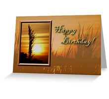 Birthday Sunset Greeting Card