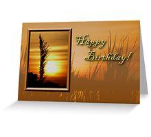Birthday Sunset Greeting Card