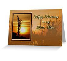 Birthday To My Little Man Sunset Greeting Card
