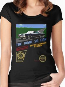 8 Bit Supernatural Road So Far Women's Fitted Scoop T-Shirt