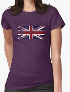 UK Flag - worn Womens Fitted T-Shirt