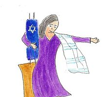 Bat Mitzvah Girl Dancing on a Chair by OraMorrison