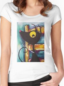 I'm not getting off Vincent's chair! Women's Fitted Scoop T-Shirt