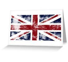 UK Flag - worn Greeting Card