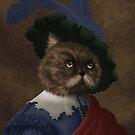 Fancy flat faced Cat Portrait  by Jujudraws