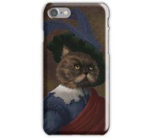 Fancy flat faced Cat Portrait  iPhone Case/Skin