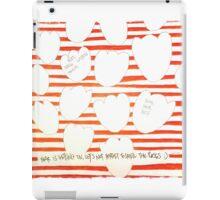 stripy hearts iPad Case/Skin