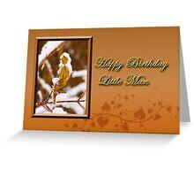 Birthday Little Man Leaf Greeting Card