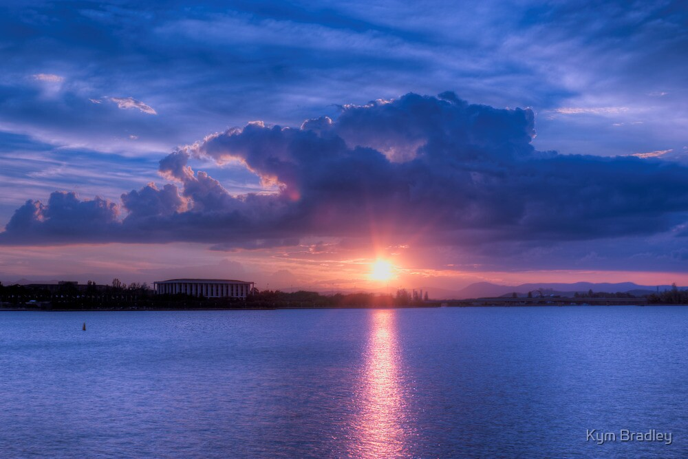 Sunset Over Canberra 25th Feb 2013 by Kym Bradley