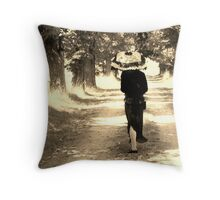 A walk in the Cemetery Throw Pillow