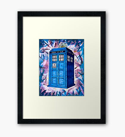 Tardis Splat - Doctor Who Framed Print