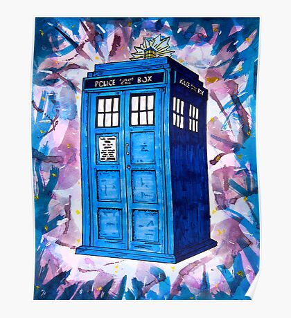 Tardis Splat - Doctor Who Poster