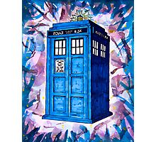 Tardis Splat - Doctor Who Photographic Print