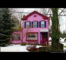 Pink And Purple House On East Broadway - Port Jefferson, New York  by © Sophie W. Smith