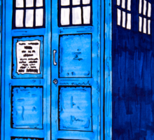 Tardis Splat - Doctor Who Sticker