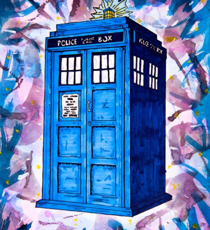 Tardis Splat - Doctor Who Sticker