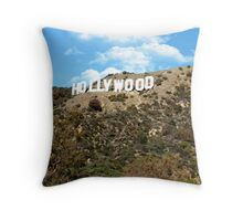 The famous Hollywood sign, Hollywood, Ca. Throw Pillow