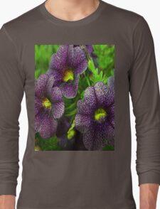 Purple petunias Long Sleeve T-Shirt