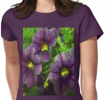 Purple petunias Womens Fitted T-Shirt
