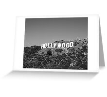 Hollywood sign in black and white. Greeting Card