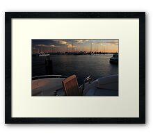 The Aft Deck At Sunset Framed Print