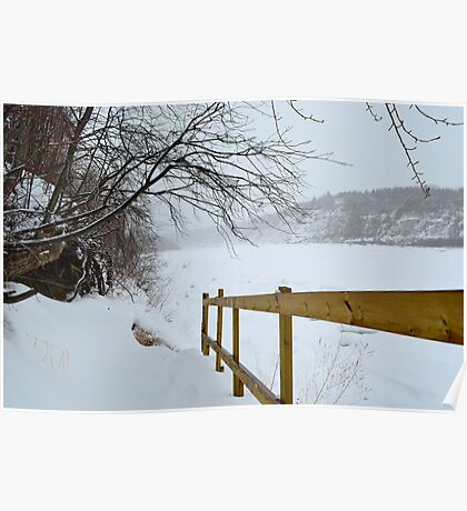 Winter - North Saskatchewan River Poster