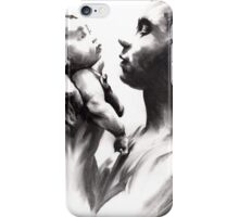 Shadowtwister, reflections - conté drawing iPhone Case/Skin