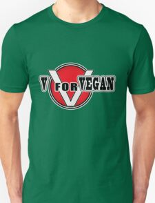 V For Vegan Unisex T-Shirt