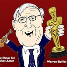 Warren Buffet caricature Oscar Winner by Binary-Options